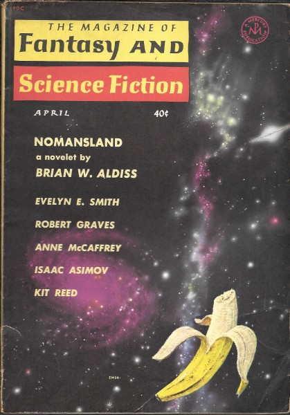 Fantasy & Science Fiction, April 1961, cover by Emsh