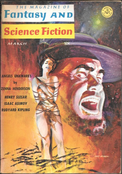 Fantasy & Science Fiction, March 1966, cover by Gray Morrow