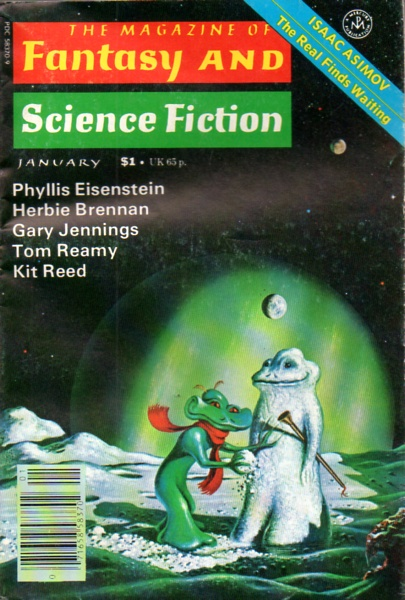 Fantasy & Science Fiction, January 1978, cover by David Hardy