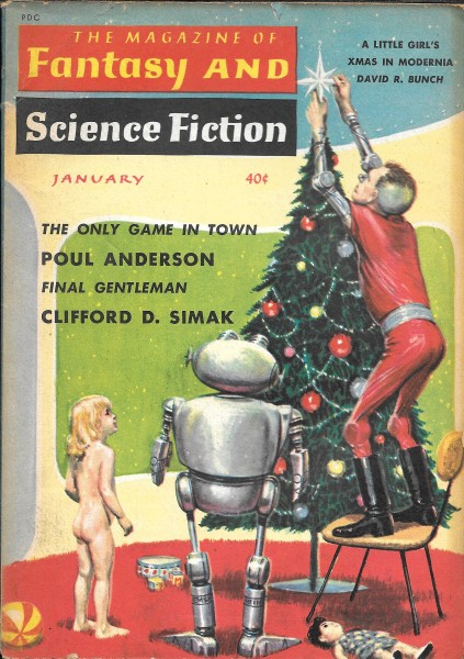 Fantasy & Science Fiction, January 1960, cover by Ed Emshwiller