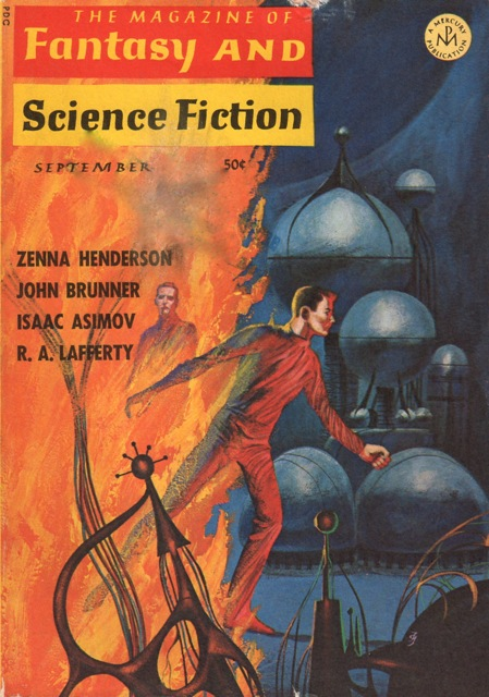 Fantasy & Science Fiction, September 1966 art by Jack Vaughn