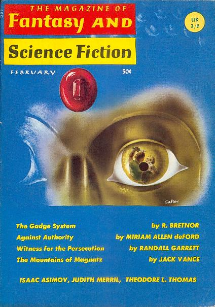 Fantasy & Science Fiction, February 1966, cover by George Salter