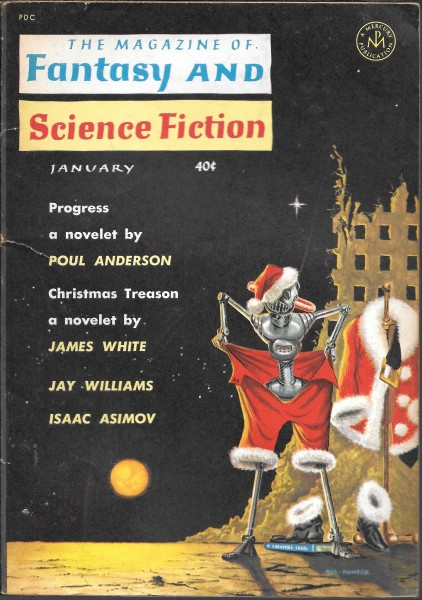 Fantasy & Science Fiction, January 1962, cover by Mel Hunter