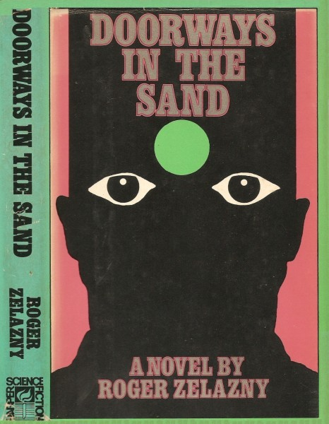 Cover art for  Doorways in the Sand   under fair use from ISFDB
